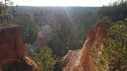 view from above canyon