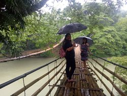 Heavy rain during our visit