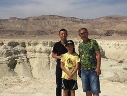 The Pratzim Wadi from the Amiaz Plateau with a delightful Chinese family.