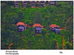 98 acres resort and spa view point of little Adams peak