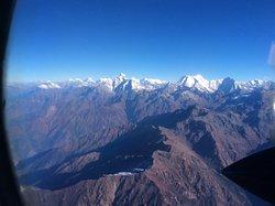 The Mount Everest scenic flight in Kathmandu, Nepal