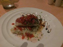 Sea bass entree at Portofino Italian Restaurant