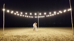 The most gorgeous picture from the trip...the rain had stopped and string lights had just turned on as the DJ played a beautiful song that the couple ran out and danced to.  It was an amazing moment!