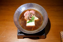Fresh onion soup sukiyaki, momen tofu, wagyu
