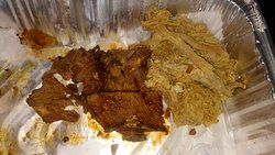 Carry out brisket and pork from Sooey's in Nags Head. Brisket had no flavor or smoke ring. I suspect it was steamed in a pressure cooker. Pork was dry and actually rancid. Inedible.