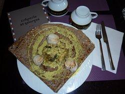 galette St Jacques au curry