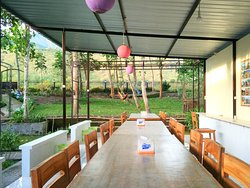 Our restaurant as well as sitting area, looking to Siswa Hill