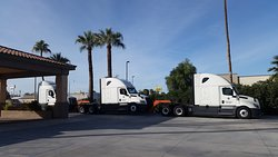 Tandem_Cabin_Trucks parked near our office parking area.