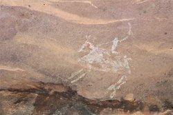 Bhimbekta , superbes et abondantes peintures rupestre datant du paléolithique et du mésolithique.