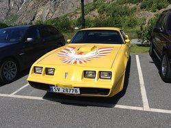 """Flam, Norvegia  Pontiac Transam L'auto di Burt Rainolds nel film """"Il Bandito e la Madama"""""""