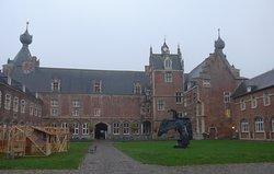 Leuven, Arenberg Castle on a bleak day, back side view