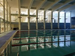 The fantastic, new sports center (free to hotel guests) below the Jerusalem International YMCA.  World class facility and pool!