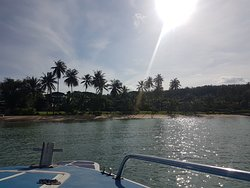 Boat to coconut island