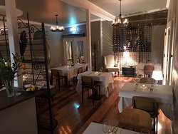 Panino's soft and intimate dining interior