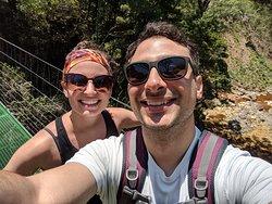 Our trip into the rain forest across a suspension bridge.