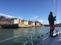 Dieppe harbour entrance.
