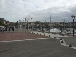 Dieppe. Looking back at the harbour.