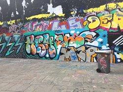 Near Quai Valmy. One man's graffiti is another's art.