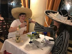 After dinner at the Mexican a la carte restaurant!