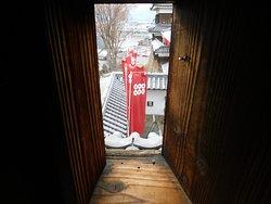 狭間から見える上田城