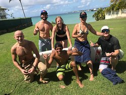 Barbados surfing lessons at Freight's Bay with Ride The Tide Surf School
