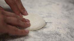 Our homemade fresh pita bread.