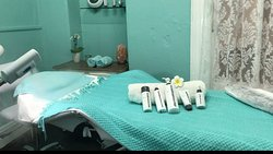 Our facial treatment room is very comfortable for facials, waxing, eyelash tinting.