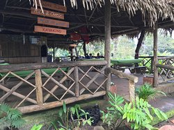RUSTIC RESTAURANT AT THE LODGE