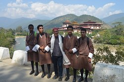 Sharami with Students of Punakha