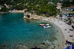 Beautiful beach in Northern Corfu