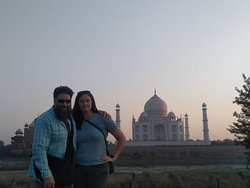 Hello Friends!! Greeting From Taj Mahal tour Guide Family Group!! This is our guest it is beautiful sunset view of Taj  Mahal from Mehtab Bagh Our tour guide Shafeek khan guided them in Agra city. For any Guide Service & Tour Package Call or Whatsaap us at +91 9634311181 More information visit our web: www.tajmahaltourguidefamilygroup.com www.jaipurtourguidefamilygroup.com