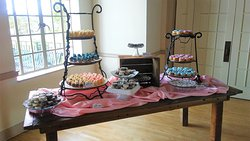 Dessert table for a wedding.