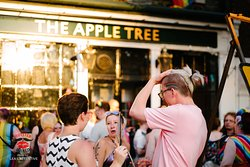 Quirky and colourful, The Apple Tree is not your run-of-the-mill pub. Independently owned and proud to be non-conformist, we offer a warm welcome to all and a home to the LGBTQ+ communities and to those living an alternative lifestyle.