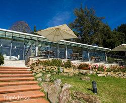 Terrace at the Hotel Villa La Palagina