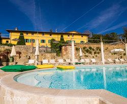 The White Pool at the Hotel Villa La Palagina