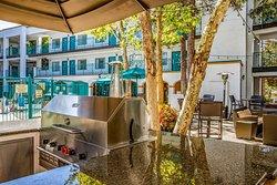 Hotel patio grill