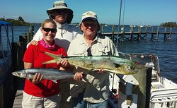 nice Dolphin fish and Kingfish with Tina,Bob and capt eric