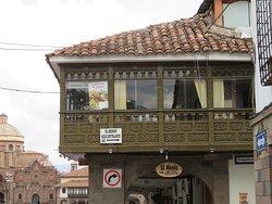 Het restaurant op de hoek van het Plaza de Armas
