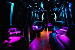 Limo Bus at night