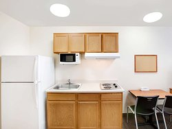 WoodSpring Suites Conroe Extended Stay Hotel Kitchen x