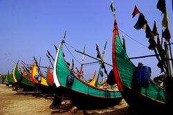 Fishing Boat in Cox's Bazar Sea Beach!