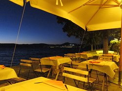 Their restaurant seating next to Lake Bracciano is so beautiful at night and refreshing during the day.