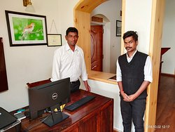 """The best team that keeps this wonderful place """"running"""", Mr. Augustine(Left) & Mr. Rahul(Right)"""
