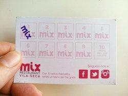 Menú Restaurant Mix Vilaseca