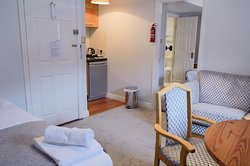 Triple studio includes a double bedroom with a Twin beds and an extra bed in the living room.