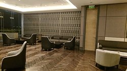 Club lounge sitting area