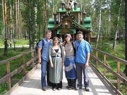 Our guests on the tour to Ganina Yama Monastery - on the tragic trail of Romanovs.