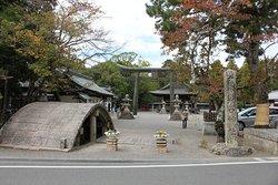 水口神社の太鼓橋と鳥居