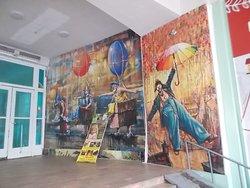 Interior lobby Circus, Proletarskaya St.,13, Irkutsk, Russia.