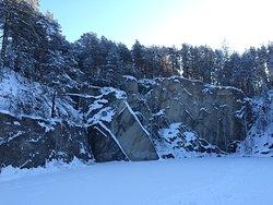 "Talkov Kamen at ""Bazhovskie Myesta nature park"". Winter forest walk."